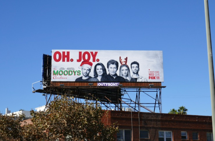 Moodys Christmas TV billboard