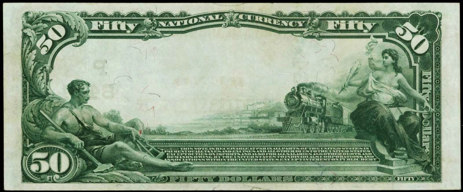 United States Currency National bank notes Fifty Dollar