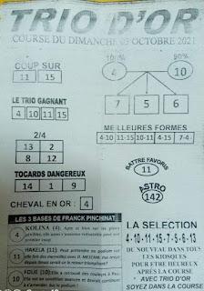 Pronostic quinté dimanche Paris-Turf TV-100 % 03/10/2021