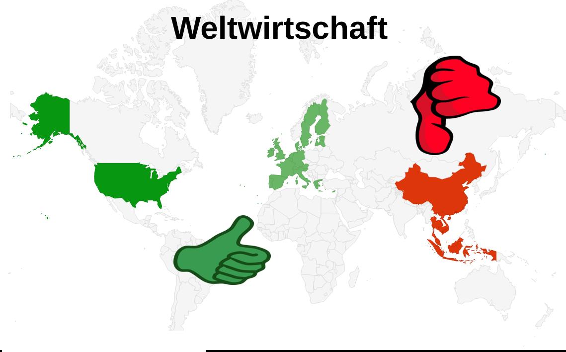Weltwirtschaft Konjunktur Karte Heatmap August 2021