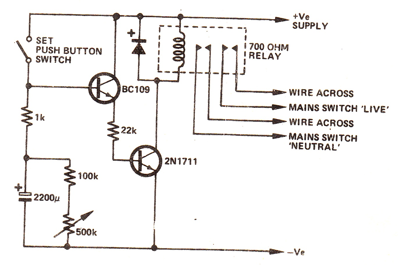adjustable timer circuit diagram with relay output [ 1369 x 912 Pixel ]