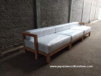 Reproducing Custom Design Teak Outdoor Sofa