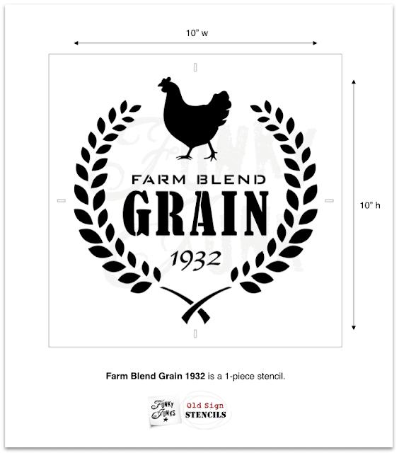 Photo of a Farm Blend Grain Stencil