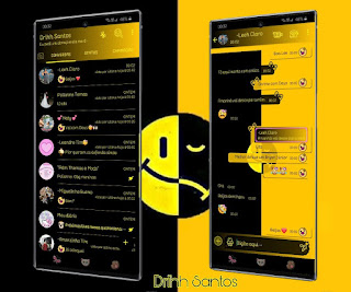 Black Emoji Theme For YOWhatsApp & Fouad WhatsApp By Driih Santos