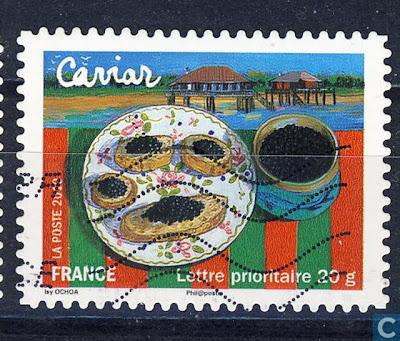 Postzegel Frankrijk, kaviaar