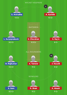 Dream11 team for MAD vs KAR 26th Match   Fantasy cricket tips   Playing 11   TNPL dream11 Team   dream11 prediction  