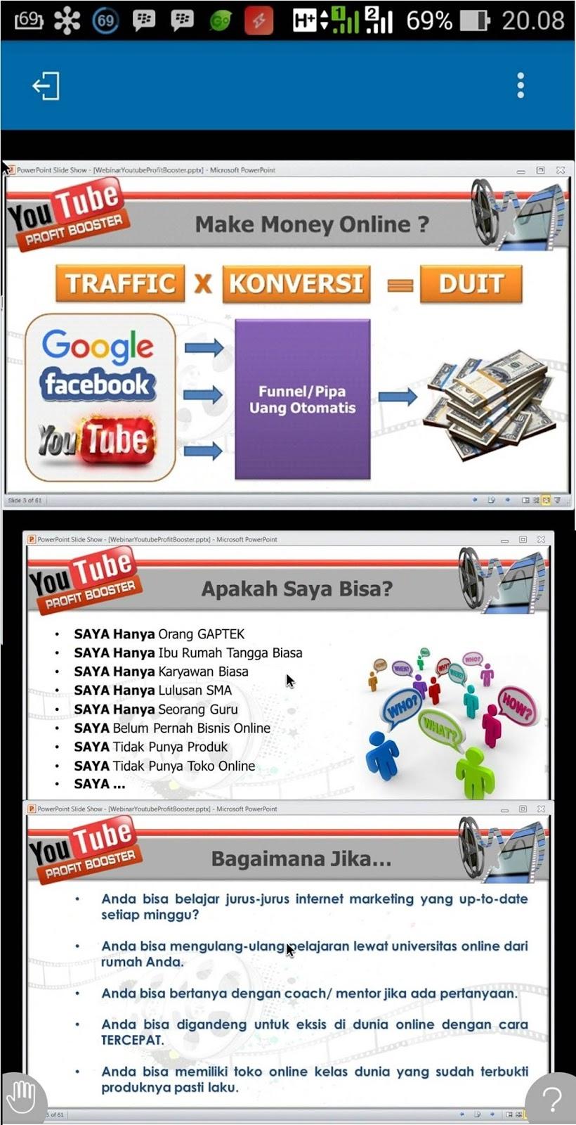 Live Webinar Online FREE / Gratis, YOUTUBE PROFIT BOOSTER ...