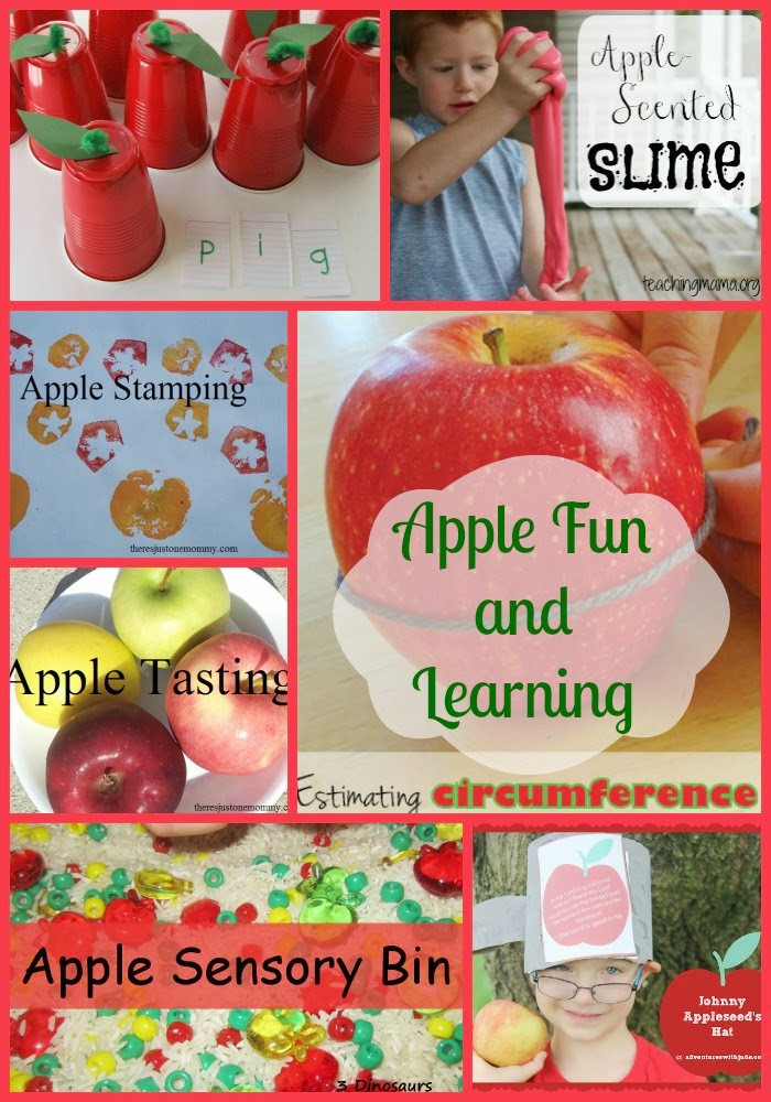 Apple Themed Fun and learning from Mom's Library