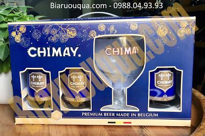 Ảnh thực tế hộp quà bia Chimay xanh