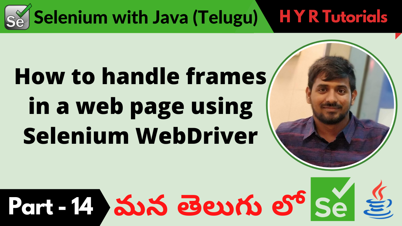 How to handle frames in a web page using Selenium WebDriver