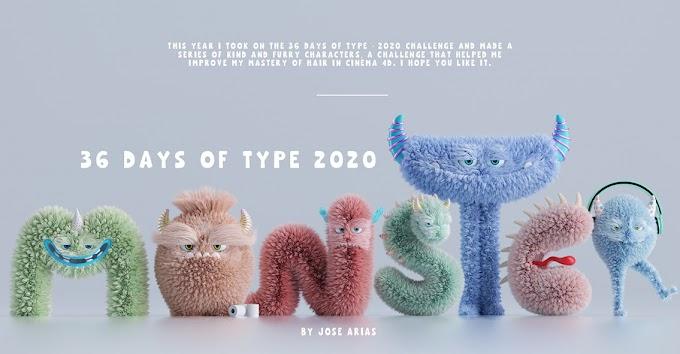 Type Monster, un proyecto lleno de cabellos, ternura y personajes tipográficos de la A a la Z