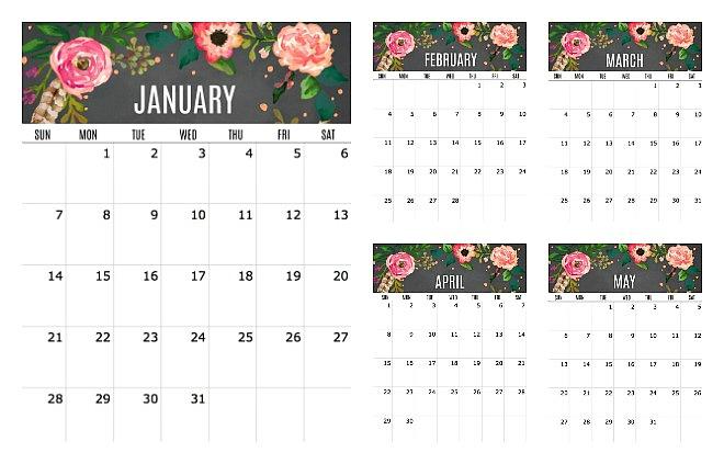 free 2018 printable calendar, printable calendar, free calendar
