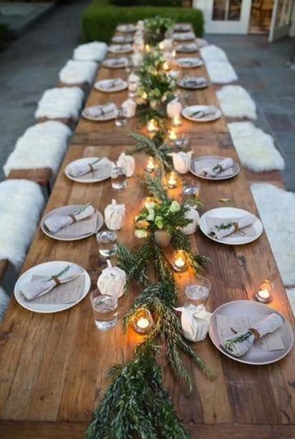 mesa de Natal rústica