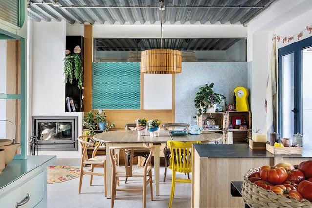 Casa eco-efficiente e boho chic per una famiglia numerosa