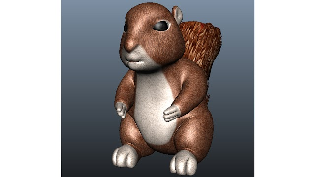 squirrel 3d model free download