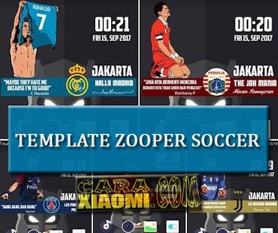 Download Kumpulan Template Zooper Widget Pro Klub Sepak Bola beserta cara menggunakan Zooper Widget