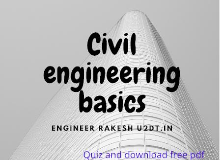 quiz for civil engneering, quiz on civil engineering