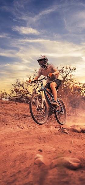 Man riding a bike wallpaper