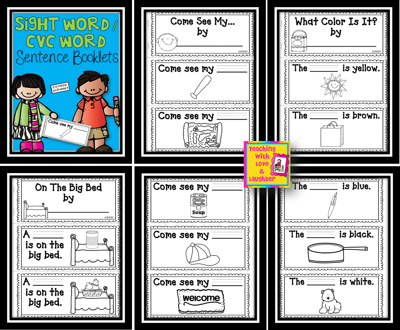 Teaching With Love And Laughter Sight Word Cvc Word