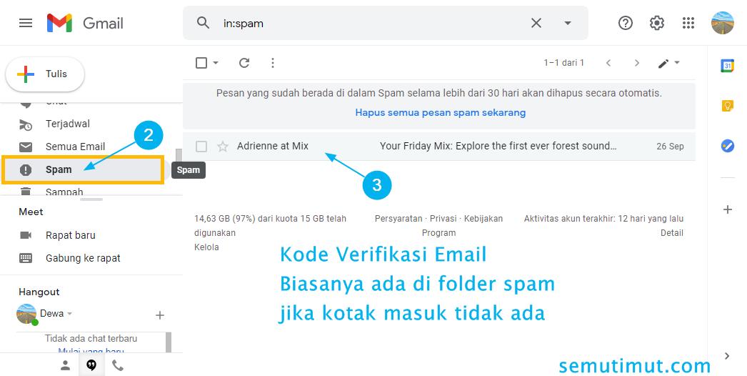 Cara Melihat Kode Verifikasi Email Google Yahoo Hotmail Semutimut Tutorial Hp Dan Komputer Terbaik