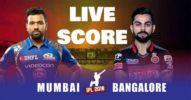 VIVO IPL 2019 Match 31 MI vs RCB Live Score and Full Scorecard