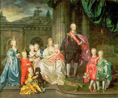 Leopold I, Grand Duke of Tuscany with his wife Maria Luisa and their children by Johann Zoffany, 1776