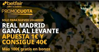betfair supercuota Real Madrid vs Levante 4 octubre 2020