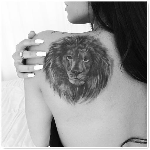 lion-tatouage féminin-8