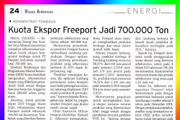 Freeport's Export Quota to Be 700,000 Tons