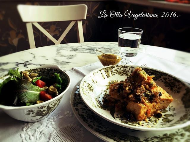 Propuesta de menú veganizado inspirado en Joan Roca - La Olla Vegetariana
