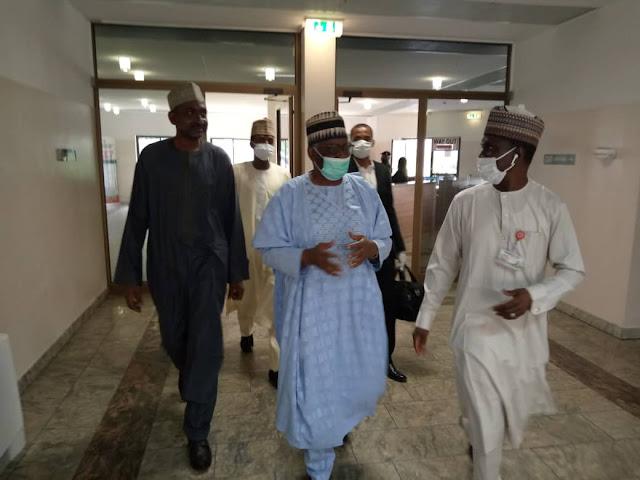 Ibrahim Gambari Arrives Aso Rock Villa as New Chief Of Staff To President Buhari