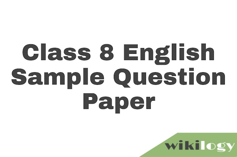 Class 8 English sample question paper JSC