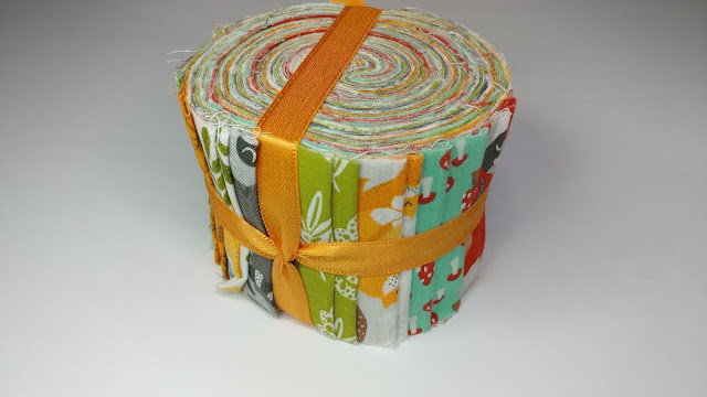 "2.5"" strip roll for baby quilt"