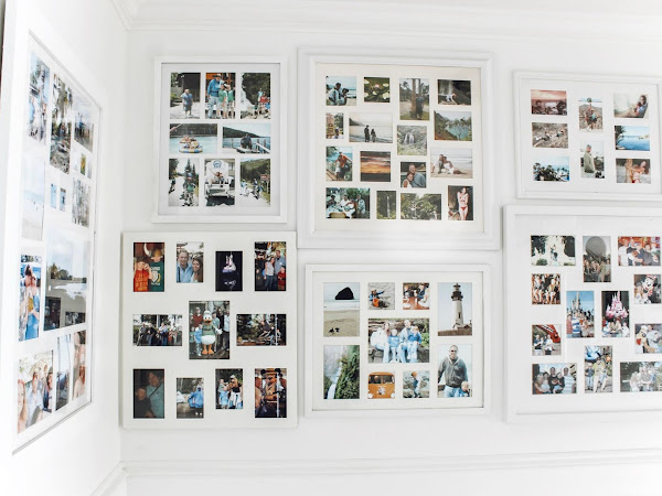 Hallway Gallery Wall Of Family Vacation Pictures