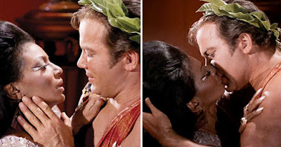 Star Trek interracial kiss between Captain Kirk and Uhura