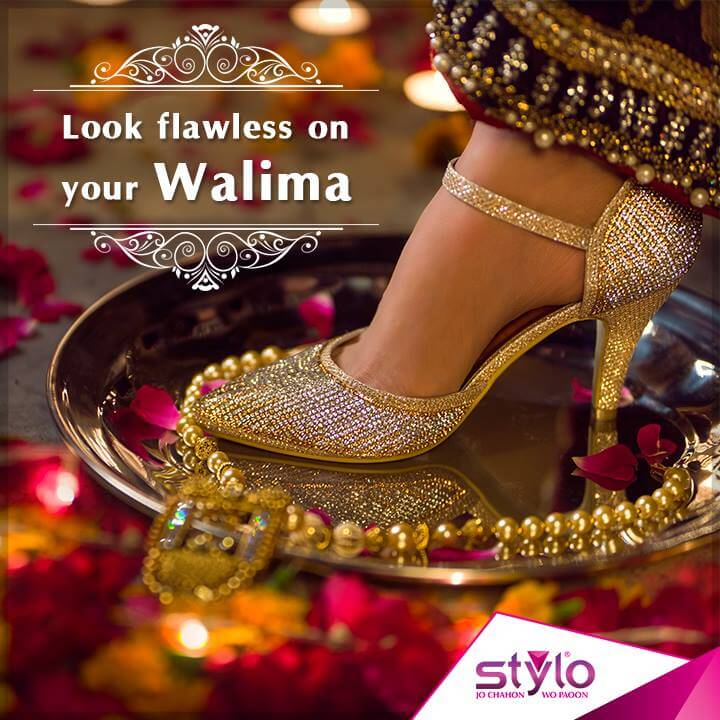 Renowned Pakistani footwear brand Stylo shoes bridal collection 2017online