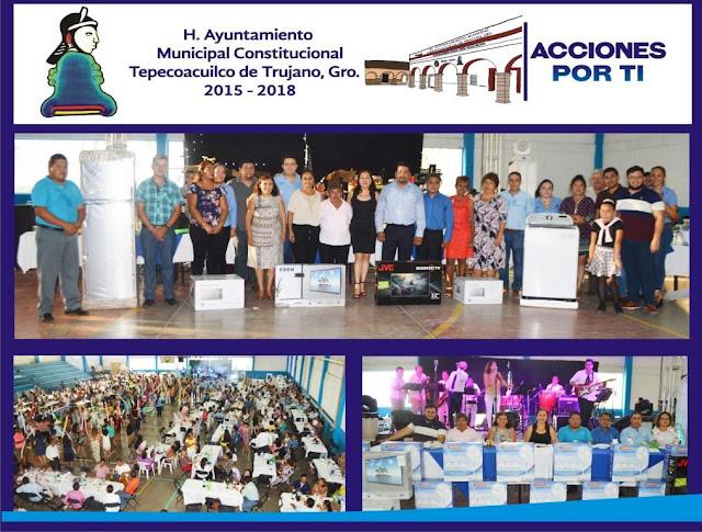Gobierno de Tepecoacuilco festejó el Día del Maestro