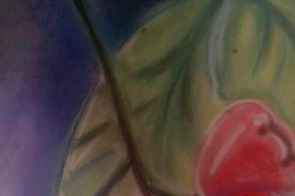 Cara cepat mewarnai gambar jambu menggunakan pastel
