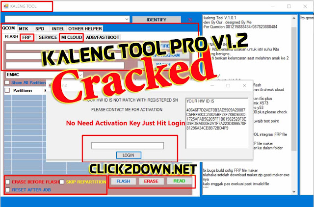 Kaleng Tool Pro V1.2 Full Craked I Qualcomm, MTK, SPD I Flash, Frp, Mi Clcoud Unlock I Free Download