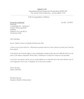 Retirement Payment Letter Sample