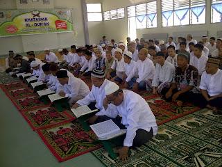 Peringati HUT Bhakti Pemasyarakatan,Rutan Prabumulih Gelar Khatam Al quran