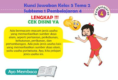 Kunci Jawaban Kelas 5 Tema 2 Subtema 1 Pembelajaran 4 www.simplenews.me