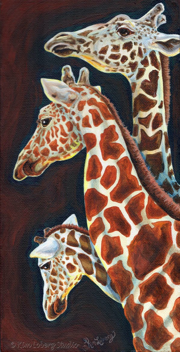 Kim Loberg Studio New Zoo Faces Painting Video Showing
