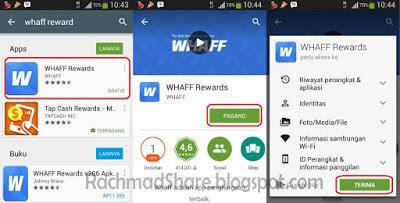 Cara Daftar Whaff : Download dan Install dari Play Store
