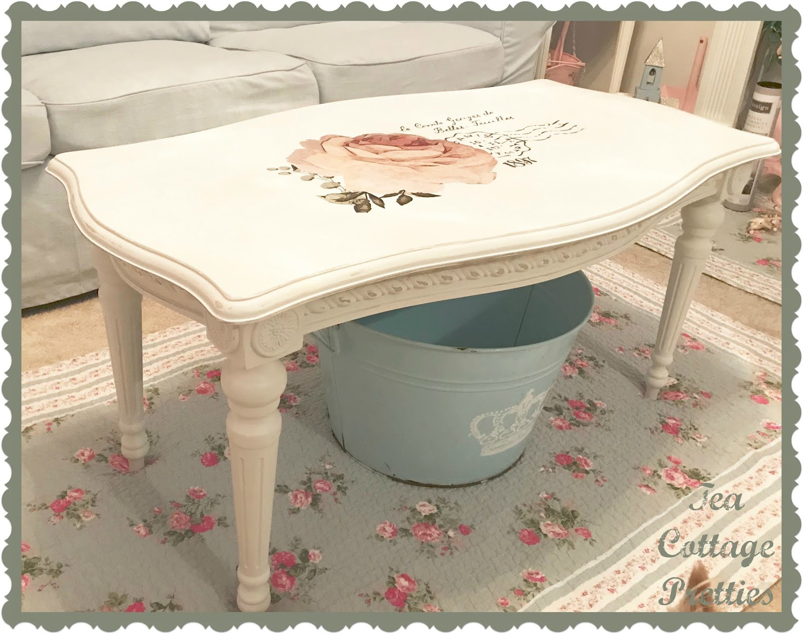 Awesome Tea Cottage Pretties Coffee Table Makeover Camellatalisay Diy Chair Ideas Camellatalisaycom