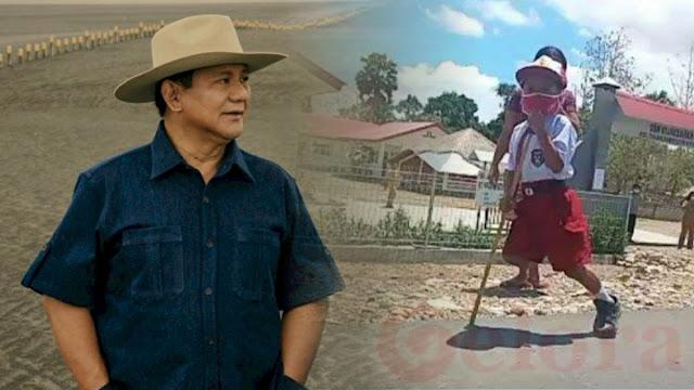 Prabowo akan Bantu Kaki Palsu Buat Yesi Ndun, Bocah SD Berkaki Satu