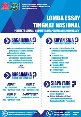 Lomba Menulis Esai Nasional 2018 di IAIN Purwokerto