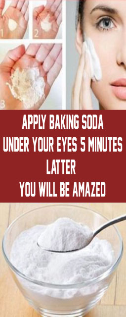 Apply Baking Soda Under Your Eyes 5 Minutes Latter You Will be Amazed
