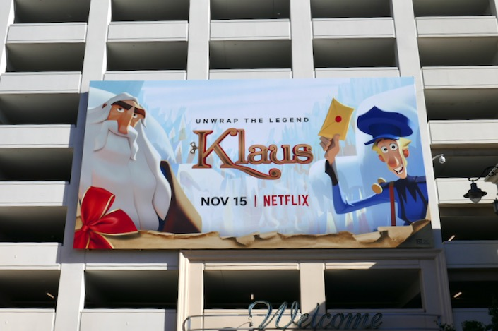 Klaus Netflix film billboard