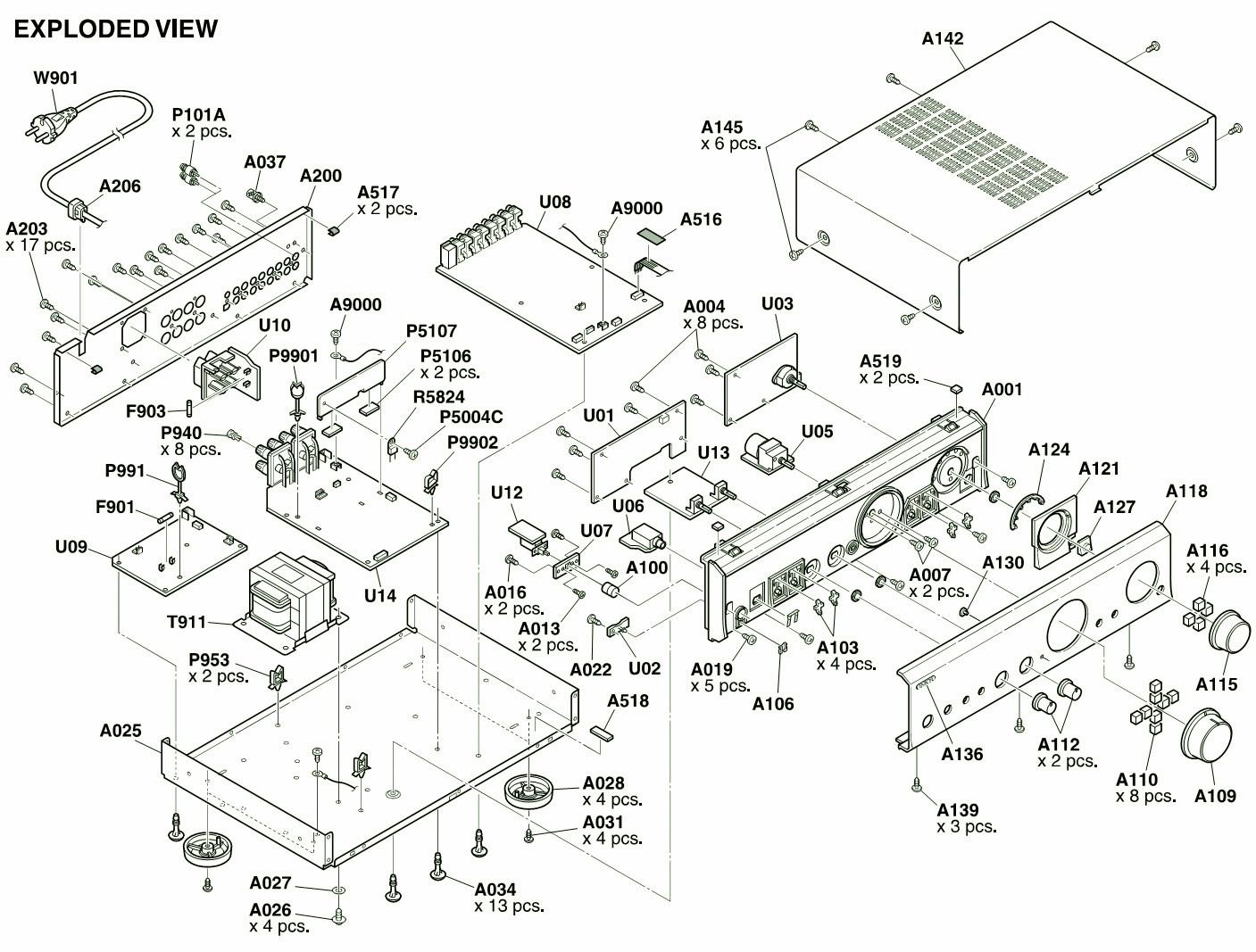 Onkyo A Integrated Amplifier Circuit Diagram